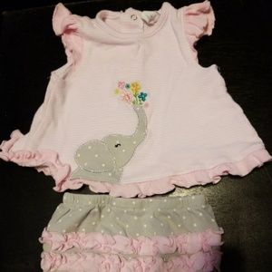 3 month Pink dress with matching diaper cover